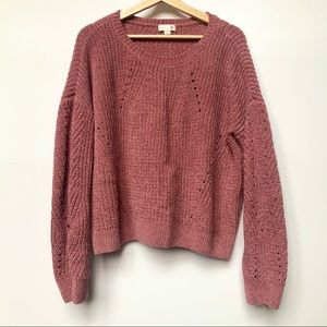 LIKE NEW SO Chenille Pink Sweater